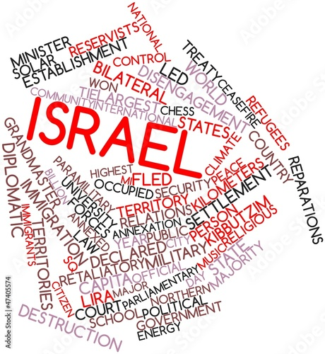 Word cloud for Israel