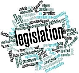 Word cloud for Legislation