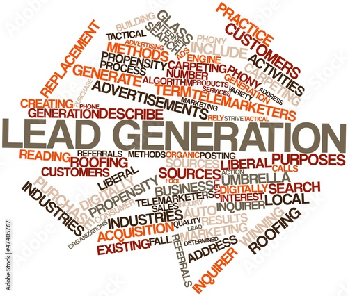 Word cloud for Lead generation