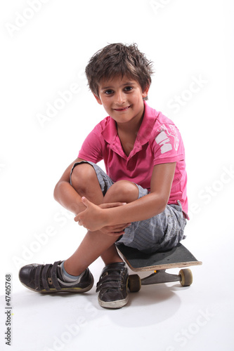 Boy with a skateboard
