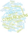 Word cloud for Marketing communications