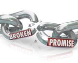 Broken Promise Chain Links Breaking Unfaithful Violation poster