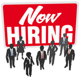 Now Hiring sign join business work team