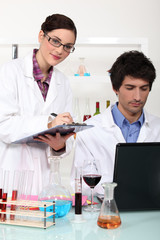 Enology laboratory