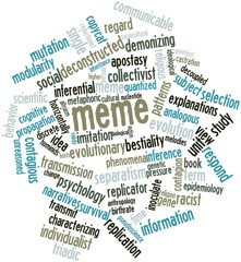 Word cloud for Meme