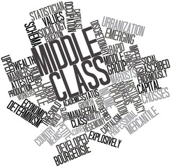 Word cloud for Middle class