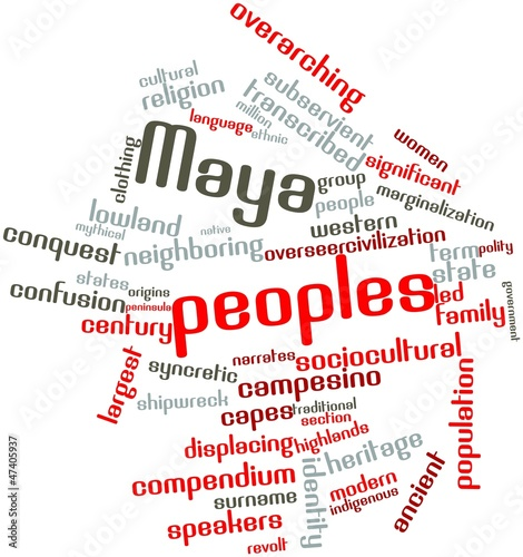 Word cloud for Maya peoples