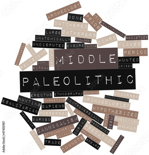 Word cloud for Middle Paleolithic