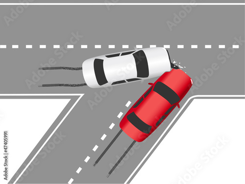 Auto traffic collision road cars
