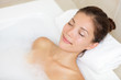 Bathing woman relaxing in bath - 47406138