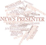 Word cloud for News presenter