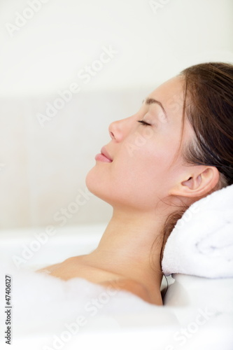 Spa woman relaxing