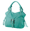 Beautiful green leather handbag