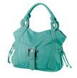 Beautiful green leather handbag