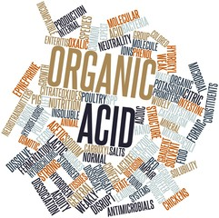 Word cloud for Organic acid