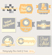 Vector Set: Vintage Photography Labels and Icons