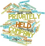 Word cloud for Privately held company