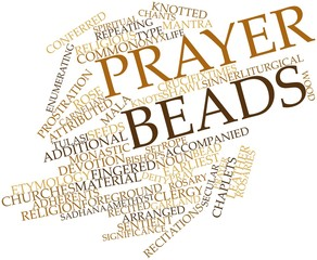 Word cloud for Prayer beads