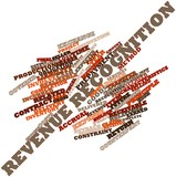 Word cloud for Revenue recognition poster