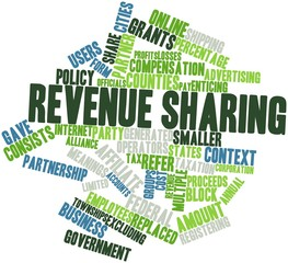 Word cloud for Revenue sharing