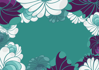 abstract floral background for card
