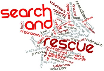 Word cloud for Search and rescue