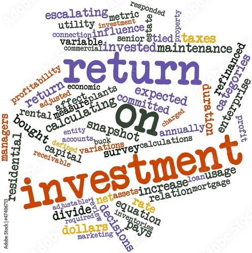 Word cloud for Return on investment
