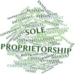 Word cloud for Sole proprietorship