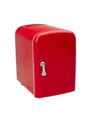 small red refrigerator for storage small things or cosmetic