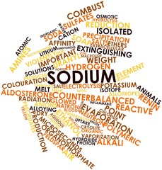 Word cloud for Sodium