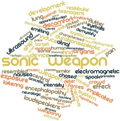 Word cloud for Sonic weapon