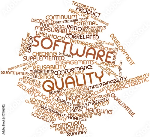 Word cloud for Software quality