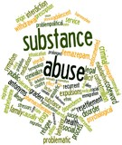 Word cloud for Substance abuse
