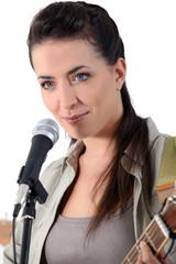female, singer