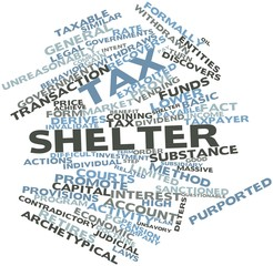 Word cloud for Tax shelter