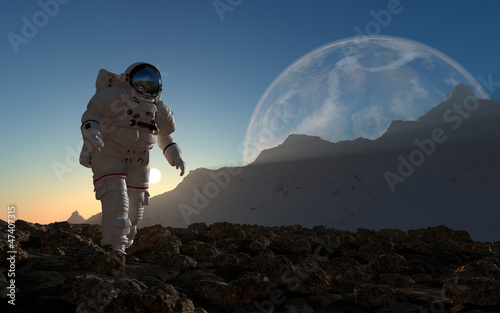 canvas print picture The astronaut
