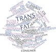 Постер, плакат: Word cloud for Trans fat