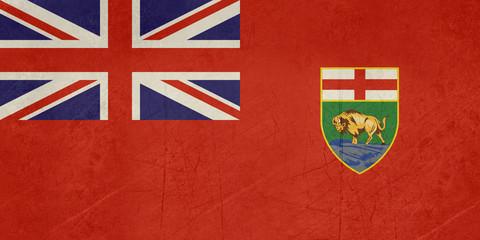 Grunge Manitoba state flag