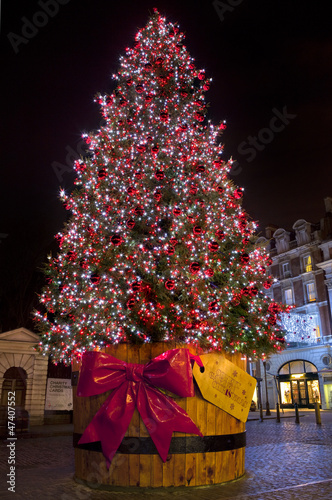 Christmas Tree in Covent Garden.