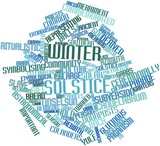 Word cloud for Winter solstice