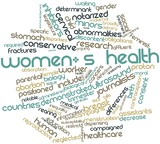 Word cloud for Women's health