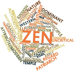Word cloud for Zen