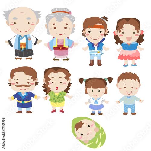 Family Cartoon of 7 Quot Cartoon Family Icon Quot Stock