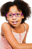 Portrait of girl wearing eyeglasses