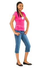 Portrait of teenage girl posing