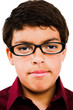 Close-Up Of Boy Wearing Eyeglasses