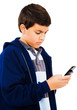 Boy Using Mobile Phone