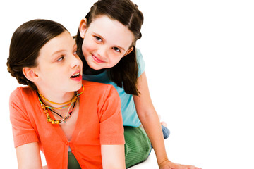 Two girls posing