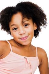 African American girl smirking