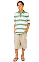 Happy Teenage Boy Standing